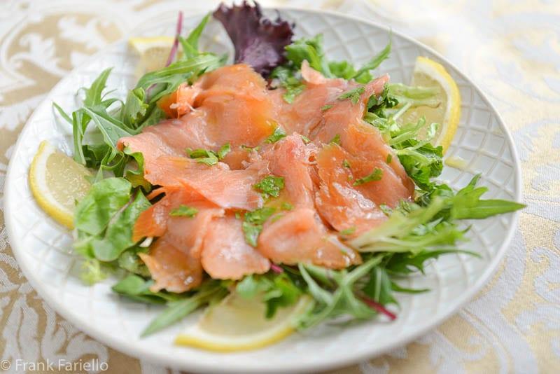 Carpaccio di salmone affumicato (Smoked Salmon Carpaccio)