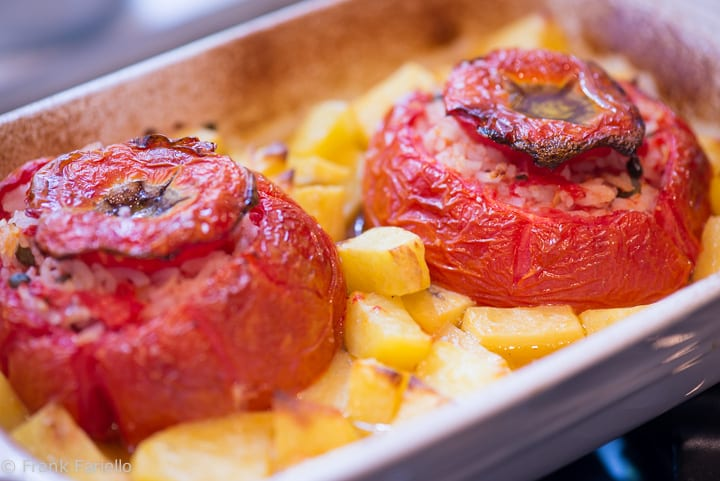 Baked Tomatoes with Rice