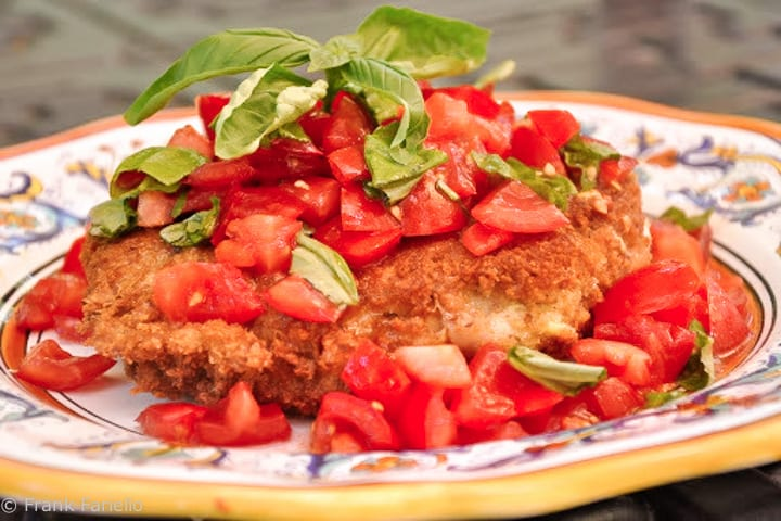Veal Chop with Tomato Salad
