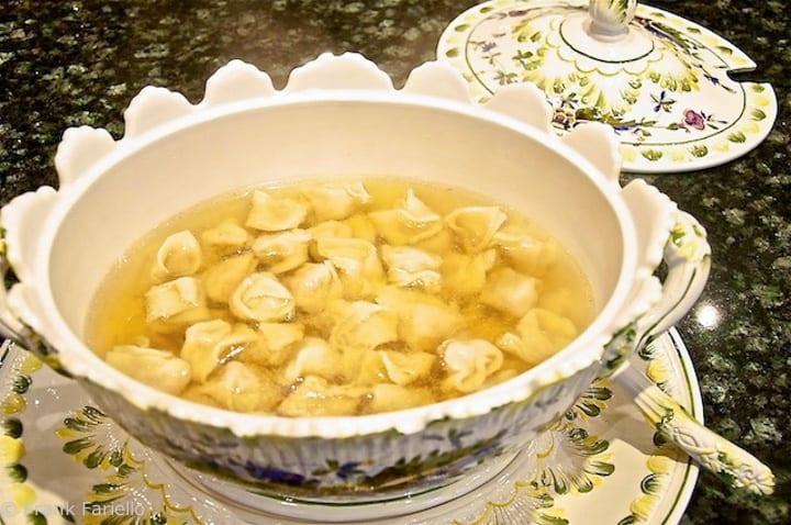 Homemade Tortellini in brodo