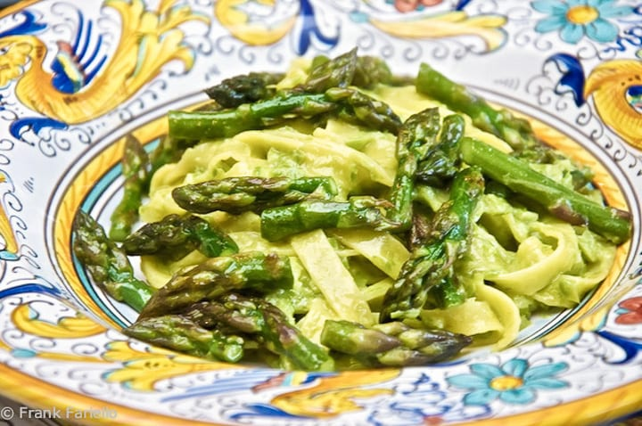 Tagliatelle with Asparagus Purée