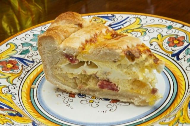 Pizza rustica (cold slice)