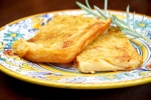 Farinata- Chickpea Flatbread (plated)