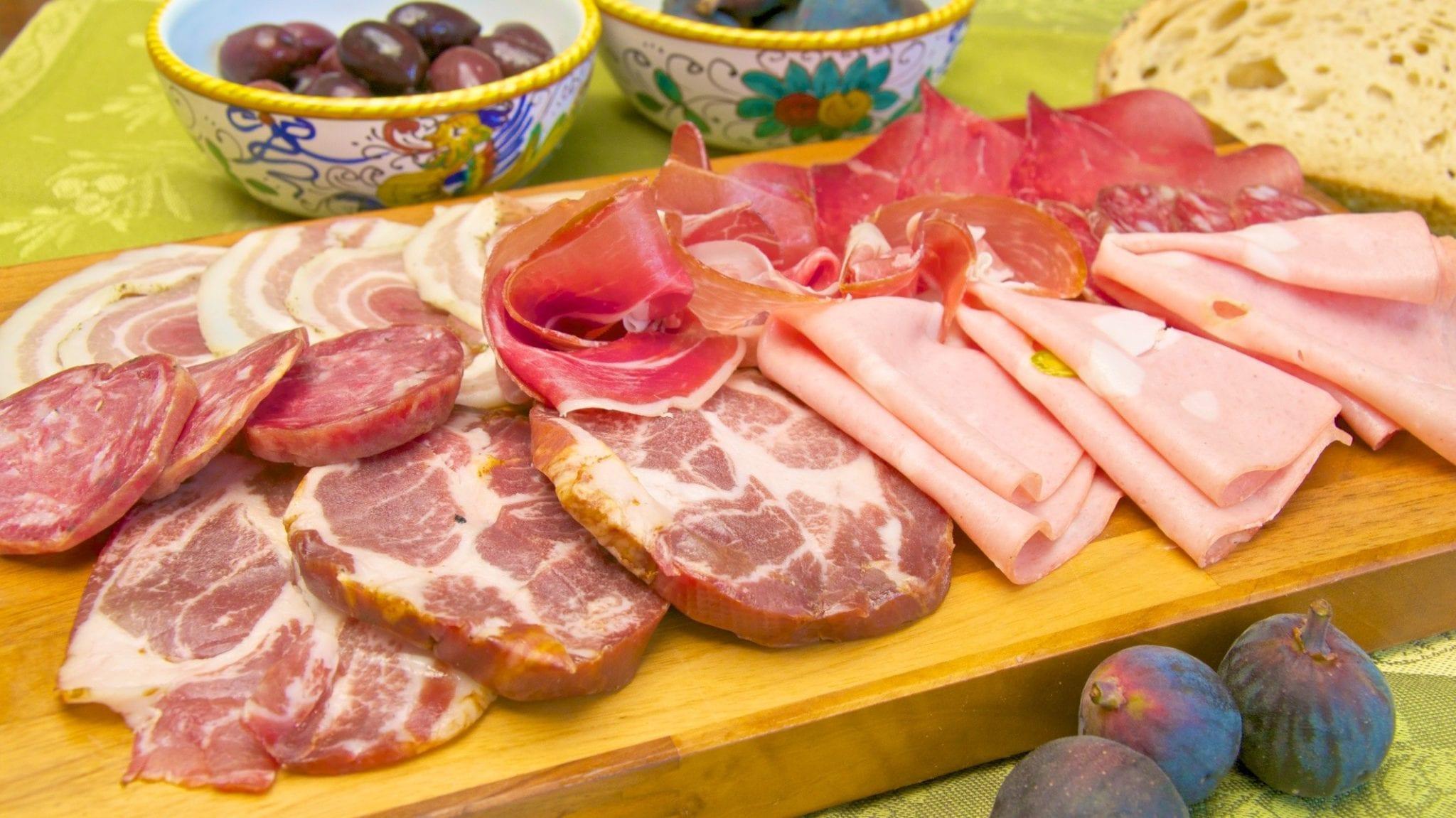 Cured meat platter