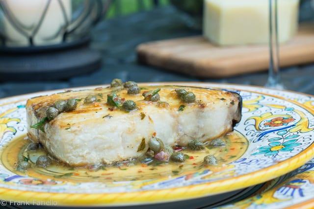 Pesce spada con capperi alla calabrese (Calabrian Style Swordfish with Capers)