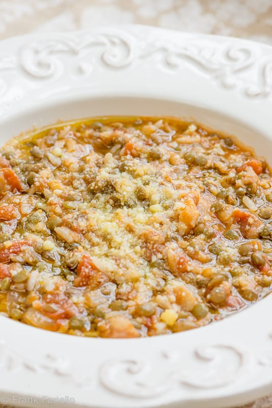 Rice and lentils (Riso e lenticchie)