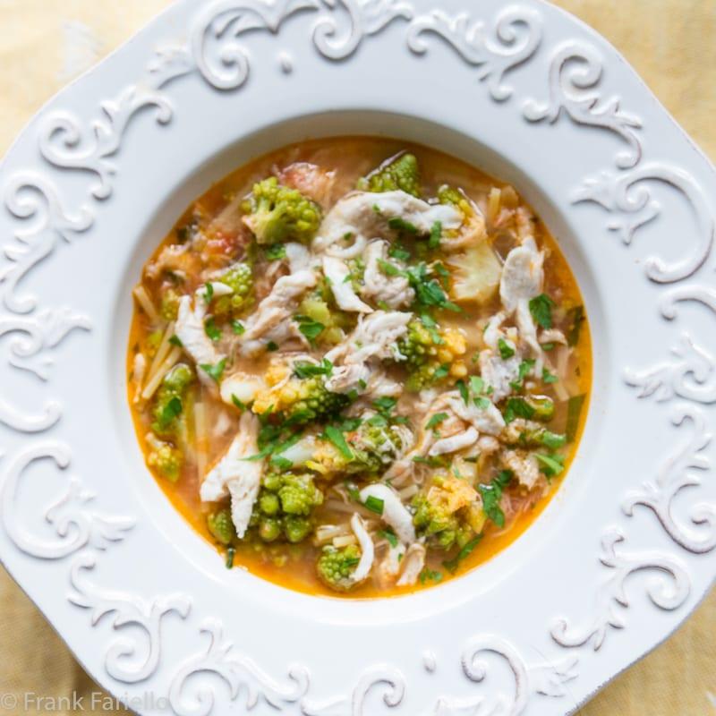 Minestra di broccoli e arzilla (Skate and Roman Cauliflower Soup)