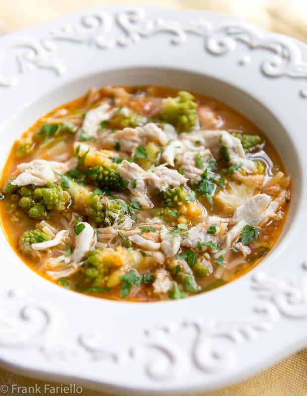 Minestra di arzilla e broccoli