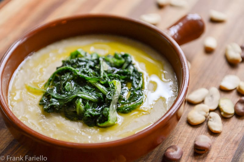 Fave e cicoria (Fava Bean Puree with hicory)