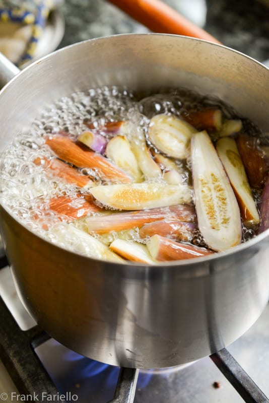 Melanzane a spapece (Marinated Eggplant)