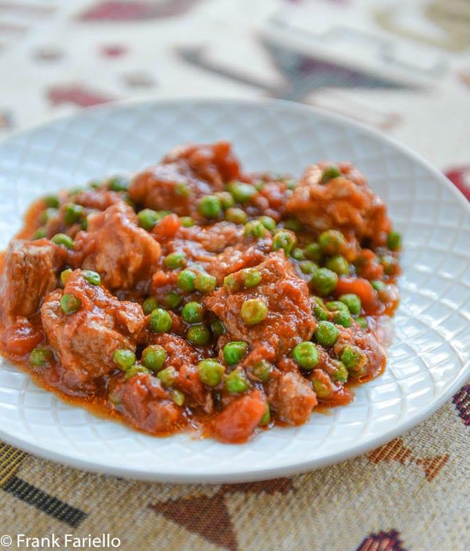 Spezzatino di maiale con piselli (Pork Stew with Peas)