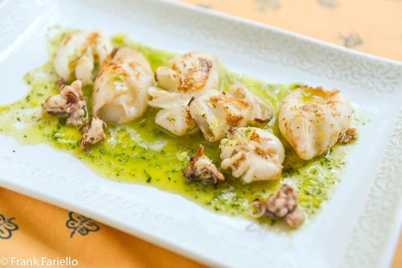 Calamaretti alla piastra (Griddled Baby Squid)