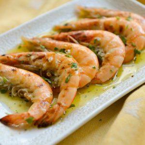 Gamberi alla griglia (Grilled Shrimp)