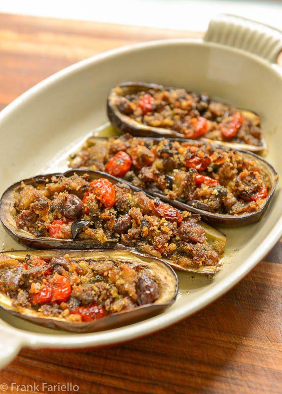 Melanzane imbottite alla napoletana (Neapolitan Style Stuffed Eggplant)